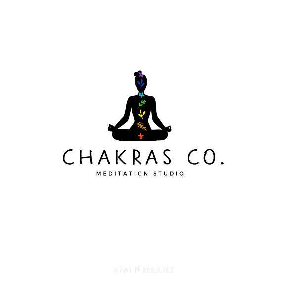 chakra logo yoga meditation logo pre made logo logo etsy in 2020 logo yoga yoga logo design abstract logo chakra logo yoga meditation logo pre