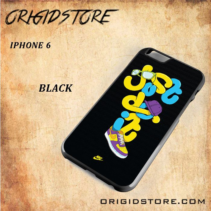 JUST DO IT NIKE SHOES GLASS Snap on 2D Black and White Or 3D Suitable With Image For Iphone 6 Case