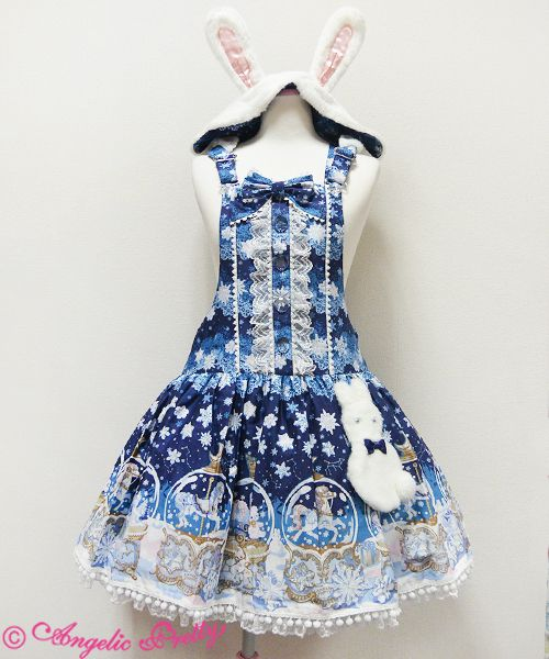 Sugar dome Salopette    Sugar Dream Domeサロペット Angelic Pretty Price:  ¥24,624 Year:  2014 Colors:  Lavender, Navy, Pink, Sax Features:  Lining, No shirring, Dropped waist, Adjustable straps, Detachable bow, Side zip Bust:  free Waist:  93 cm Length:  73.5~94 cm