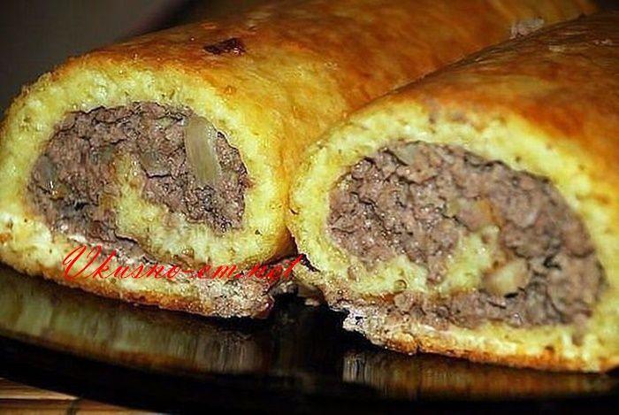 Сырно - мясной рулет