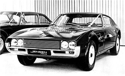 This is a 1966 Jensen Nova, a Michelotti designed one-off Vignale fibreglass body. It is a re-bodied Jensen Interceptor that was shown at the Geneva Motor Show in 1967.