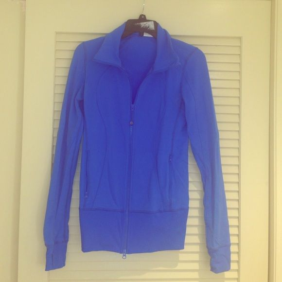Lululemon blue zip up! Excellent condition! Lululemon zip up in blue! Excellent condition! Sleeves have thumb holes. Size 6 lululemon athletica Other