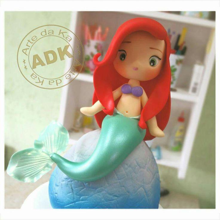 Ariel little mermaid topper