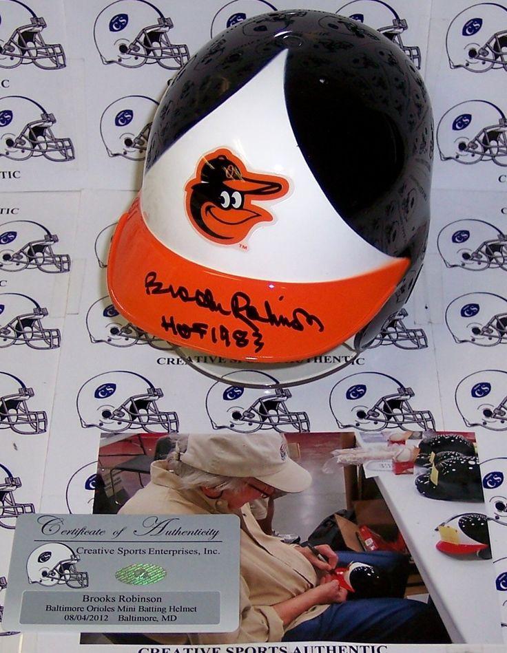 Brooks Robinson Hand Signed Baltimore Orioles Mini Helmet - PSA/DNA
