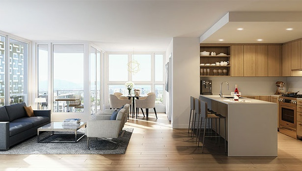 Open concept living room in Harmony by Townline Group of Companies