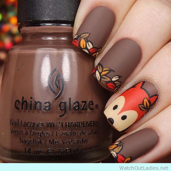 It's time to say bye bye to summer's colorful and flashy nails color and nail design and welcome party fall nail colors.