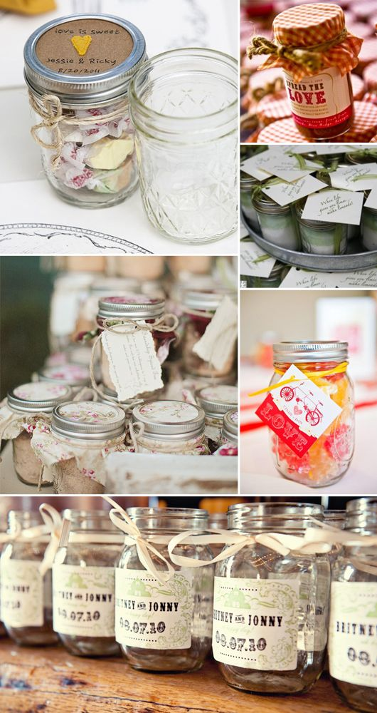 "mason jar, home  made bubbles, and keys for ceremony    card-stock tags for drinks guest write on name tag for rehearsal and engagement party  one for the ""future mr & mrs""  7 Ways to Use Mason Jars in Your Wedding Decor"