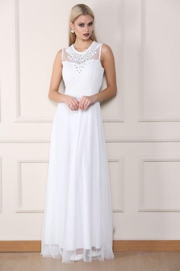 Beyaz Abiye Elbise 0008 Kapida Odemeli Ucuz Bayan Giyim Online Alisveris Sitesi Modivera Com Ucuz Abiye Elbiseler Kapida Odeme Imka Elbiseler Giyim Elbise