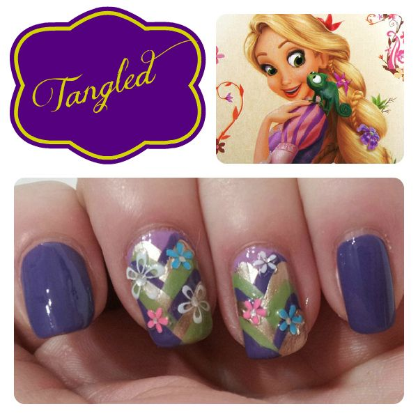 Disney Princess Tiana Waterfall Nail Art: 133 Best Fairy Tale Nail Art Images On Pinterest