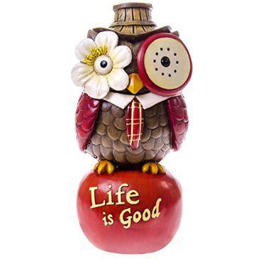 """""""Life is Good"""" Tabletop Owl Figure : Apple"""