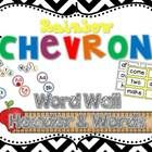 Rainbow Chevron Word Wall Headers & 220 Word Wall Words {Editable}