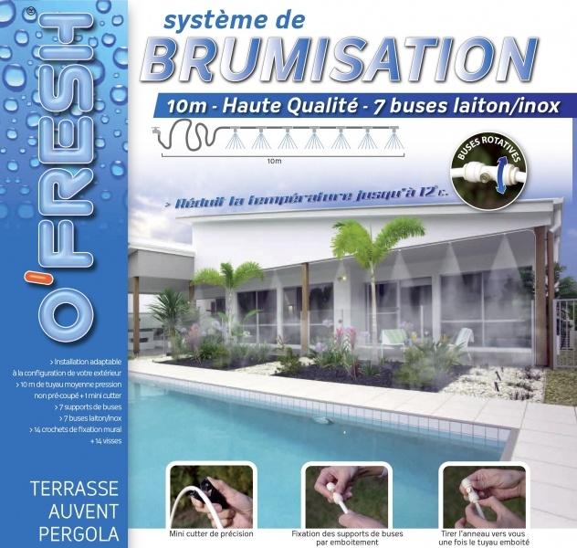 Brumisateur 10 mètres pour terrasse de jardin - Grand modèle équipé de 7 buses O'FRESH ® http://deco-maison-fr.com/article/1157/brumisateur-10-metres-pour-terrasse-de-jardin-grand-modele-equipe-de-7-buses-o-fresh#