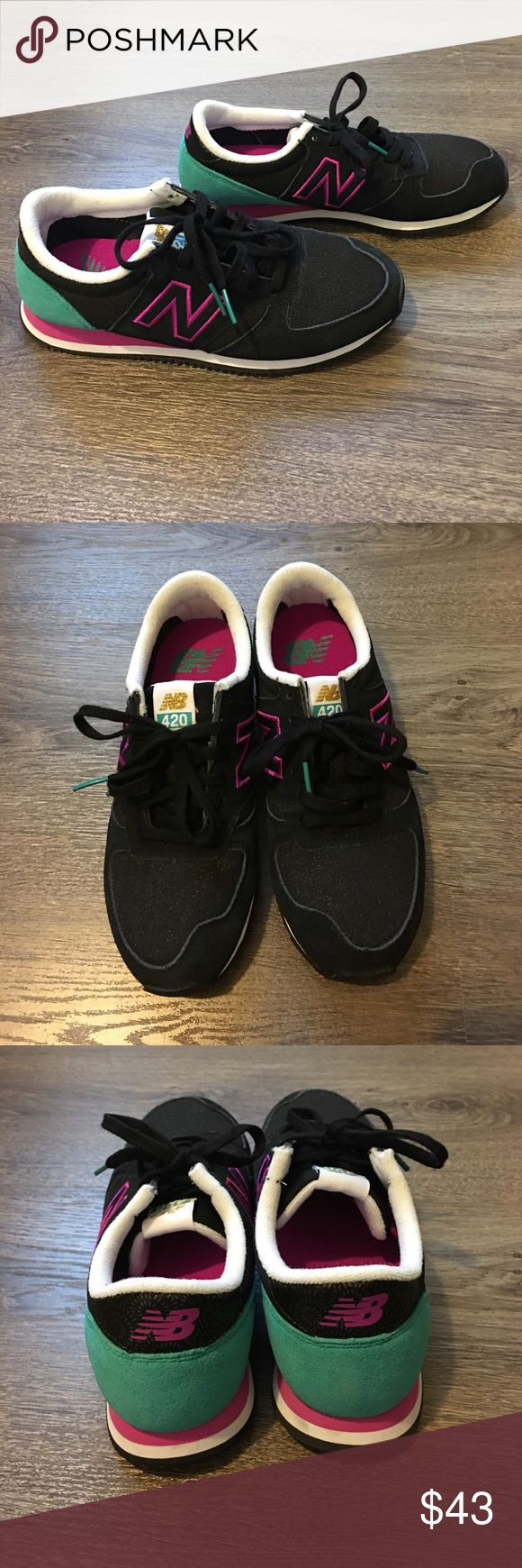 New Balance 420 women shoes Size 6, worn once, in excellent condition. Fits more like size 5.5. New Balance Shoes Sneakers