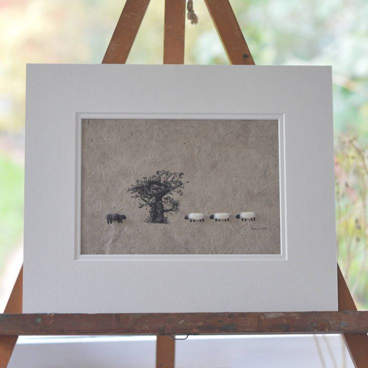 Woolly Sheep And Oak Tree Picture
