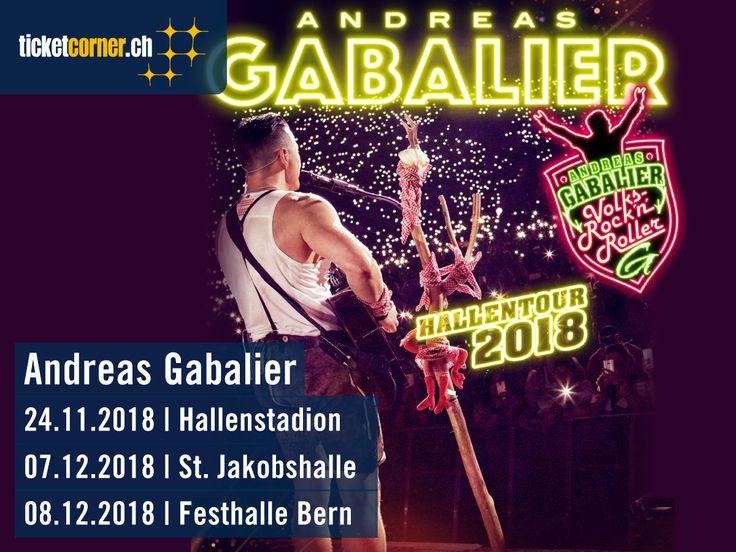 Dieser Mann ist nicht aufzuhalten: Andreas Gabalier kündigt für den Winter 2018 eine Hallentour an. Der Volks Rock n'Roller wird am 24.11.18 im Hallenstadion Zürich, am 7.12.18 in der St. Jakobshalle Basel und am 8.12.18 in der Festhalle Bern auftreten.