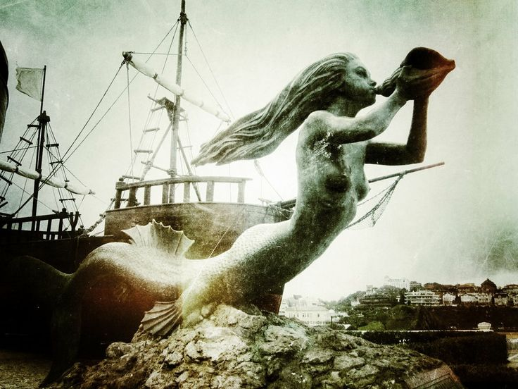 Mermaid figurehead at the Magdalena Park, Santander (Spain)