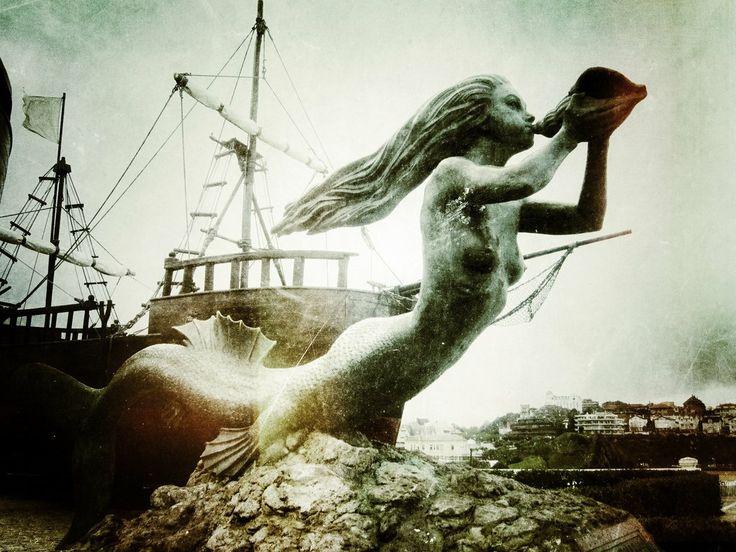 Mermaid figurehead at the Magdalena Park, Santander (Spain)
