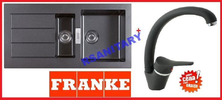 Zlewozmywak granitowy Franke SID651  bateria BLACK