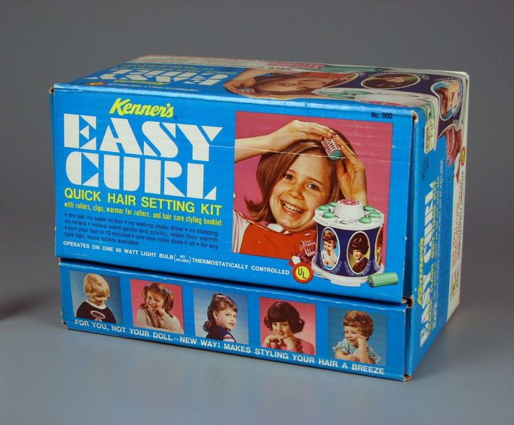 These electric curlers used a 100 watt light bulb to generate heat. I burned the crap out of my fingers numerous times trying to reproduce the hairstyles shown on the box.