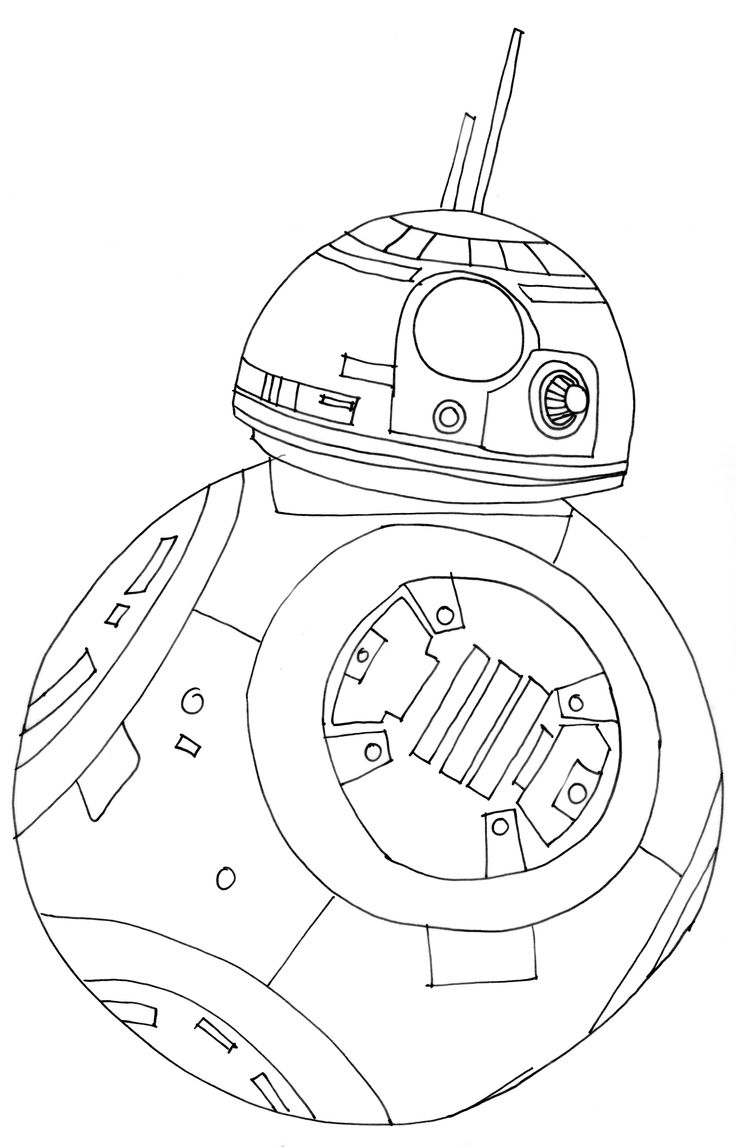 Star wars bb8 coloring page free dennis pinterest for Star wars bb8 coloring pages