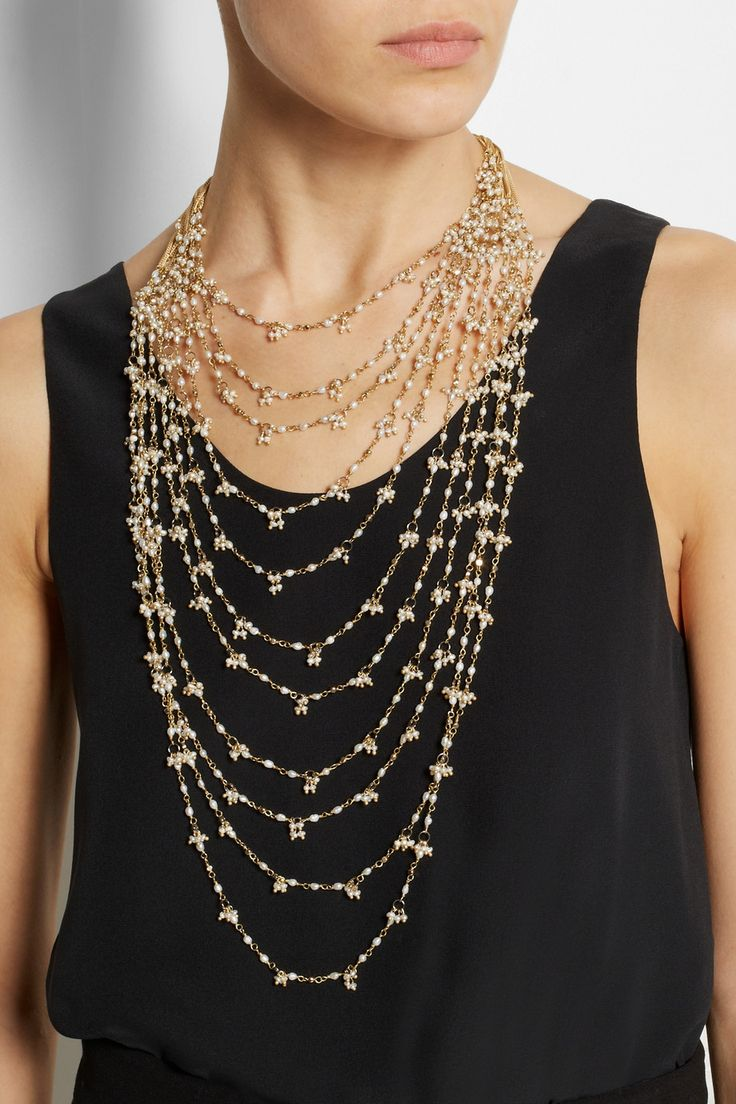 Rosantica  Divina Amore Golddipped Freshwater Pearl Multistrand Necklace