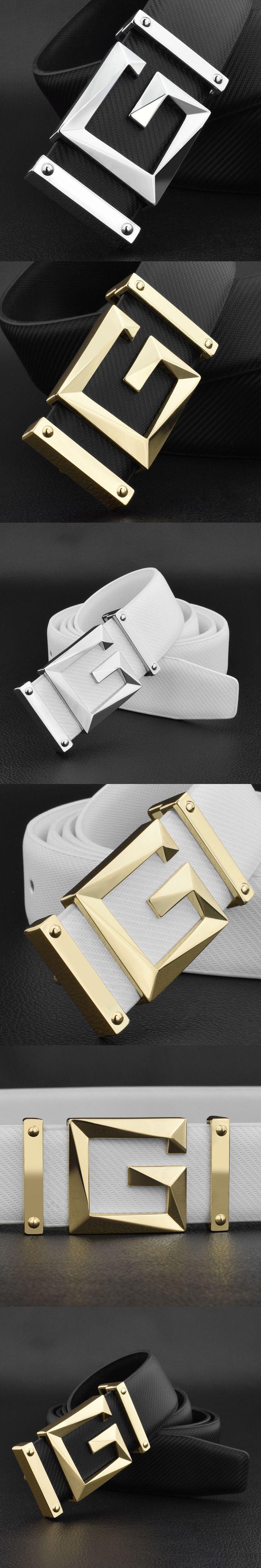 Fashion Letter g belt men genuine leather High Quality belt designer luxury brand corset belt famous Cowhide gold waist belt