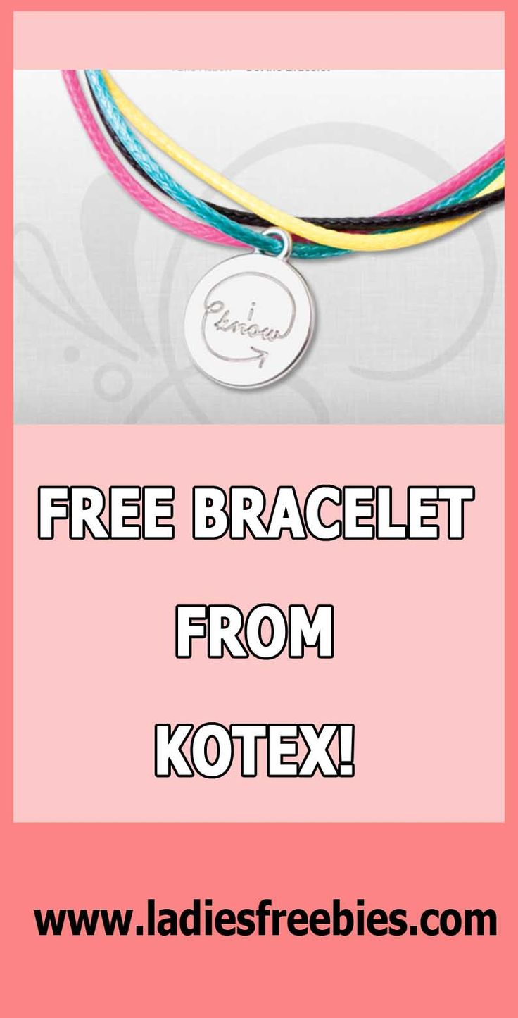 Get a Free Generation Know Bracelet from U by Kotex! #freebies