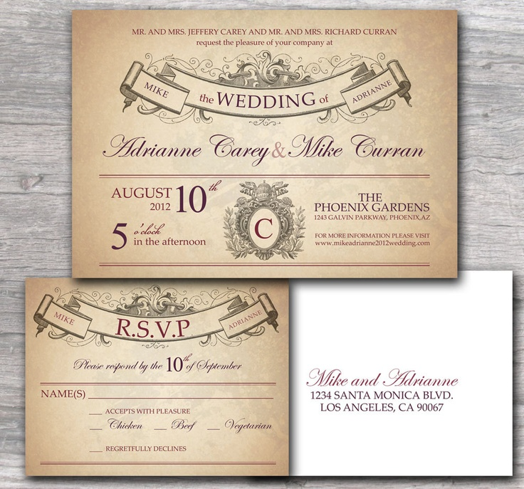29 best wedding invites images on Pinterest | Invitation ideas ...