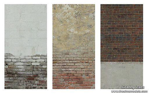 Brick Walls by Granny Zaza at The Sims Models via Sims 4 Updates