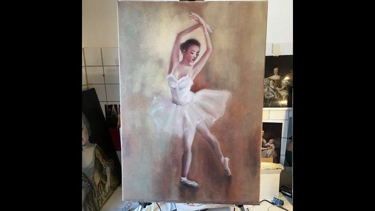 Alla prima painting technique / Painting of a Ballerina