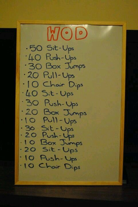 WOD ~ Re-Pinned by Crossed Irons Fitness