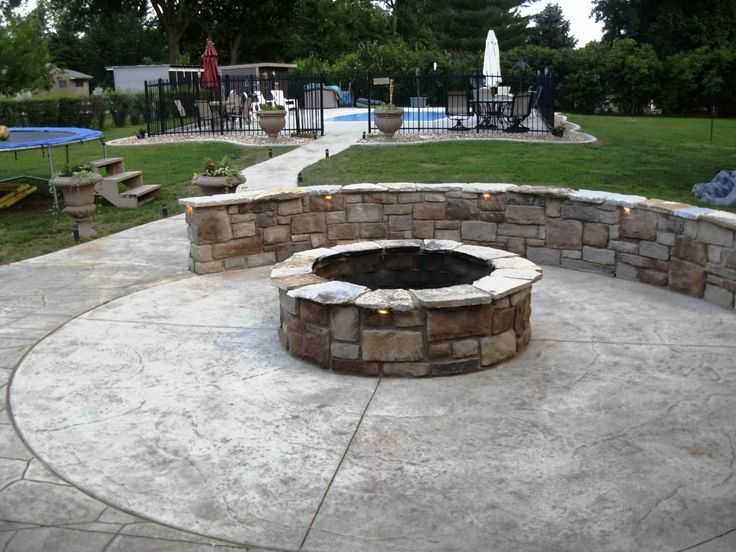 45 best patio designs images on pinterest | patio ideas, stamped ... - Brick Patio Designs With Fire Pit
