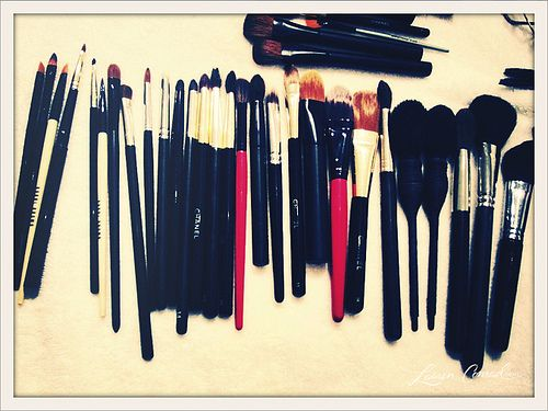 makeup brushes by the bushel
