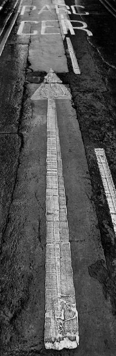 Josef Koudelka :: Parking entrance, Cardiff, UK, 1997