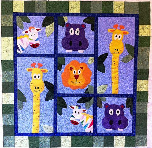 Customer Quilt – Animal Applique « LoveBug Studios                              …