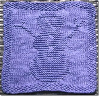 Snowman Dishcloth ~ free pattern