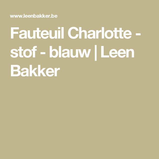 Fauteuil Charlotte - stof - blauw   Leen Bakker