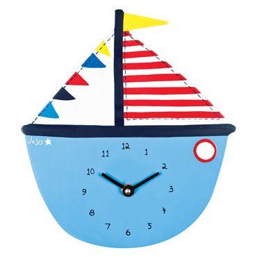 Nautical Clock, Nightlights, Clocks and Lampshades, Nursery