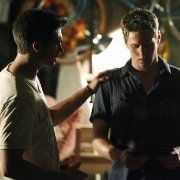 Still of Zach Roerig and Steven R. McQueen in The Vampire Diaries (2009)