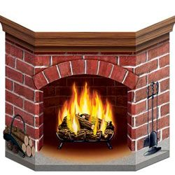 478 - Winter Wonderland Fireplace Prop  For more information, please go to our facebook page.   www.facebook.com/popitinaboxbusiness