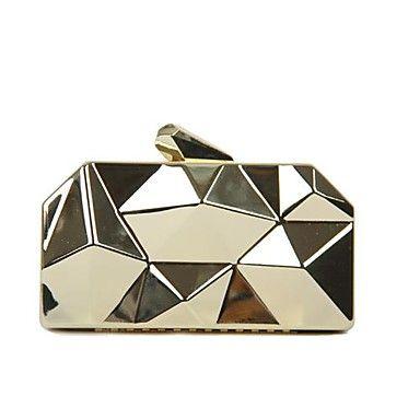 PU - Gece El Çantaları/El Çantaları/Gelin Cüzdanı ( Siyah/Gümüş/Altın , Zincir/Kristaller/Yapay Elmaslar - USD $ 39.99