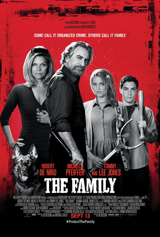 The Family. Can't wait to see this..Robert De Niro mob movies are always good!