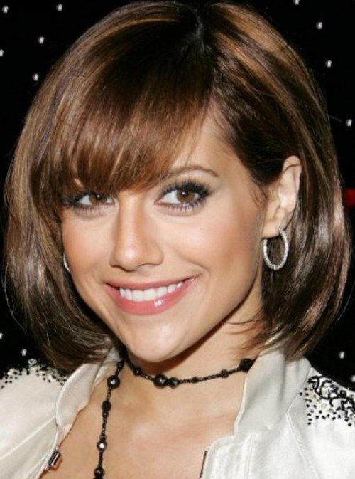Regular Layered Bob Cut with Volume with Full Side Swept Bangs