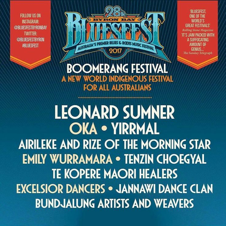 Boomerang Festival is back at this years Byron Bay Bluesfest