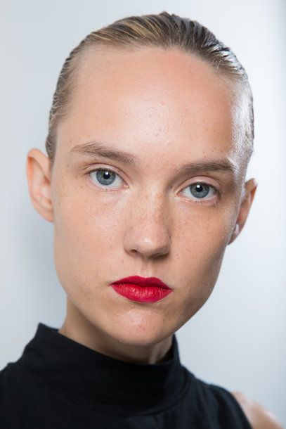 #Lipstick #trend Spring Summer 2016 MATT RED jason_wu