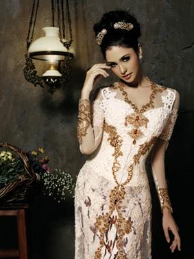 Modern, White Indonesian Kebaya