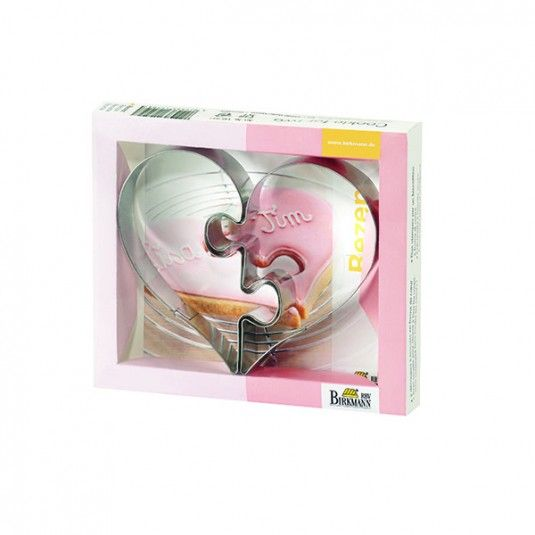 Foremki do wykrawania ciastek COOKIE FOR TWO - 2 szt. #bakeshop #cookiecutter #love #heart #baking