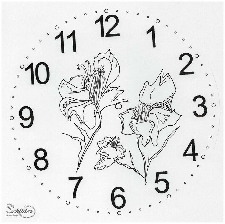 Blumen auf dem Ziffernblatt, Uhr selbermachen,diy clock,