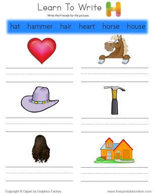 5 letter words that begin with h learn to write words that start with h free printable 28169 | 33b04f0abe3d520550782a6a9c5d1d35 free printable worksheets kids worksheets