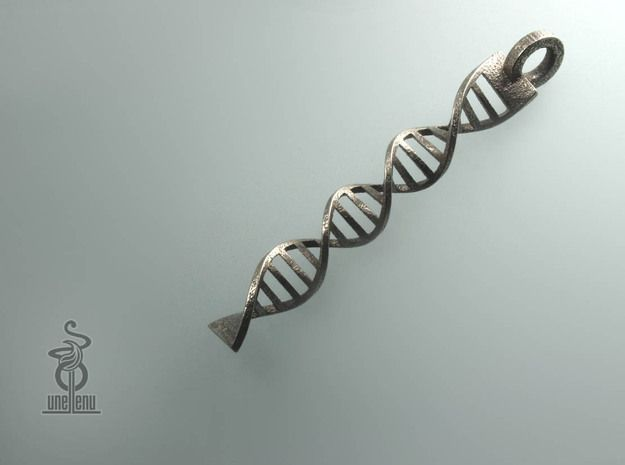 DNA Pendant in 3D printed stainless steel 3d printed